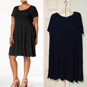 Style&Co black short sleeve swing dress